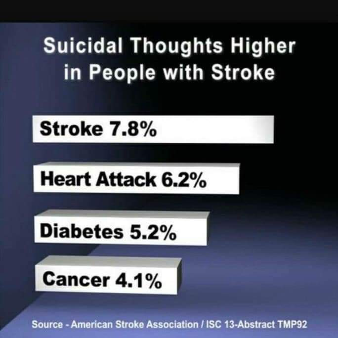 Depression, a big Challenge to Recovery/Rehabilitation after a Stroke